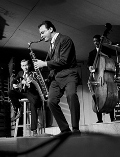 Stan Getz with Jimmy Rainey & Tommy Williams at the Monterey Jazz Festival, 1962
