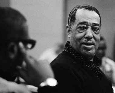 Duke Ellington with Billie Strayhorn at the Monterey Jazz Festival, 1964