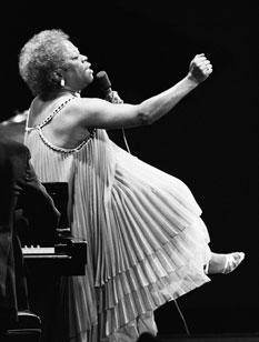 Sarah Vaughn at the Monterey Jazz Festival, 1980